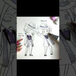 #shorts 【ミニキャラ描いてみた】ツイステッドワンダーランドのフロイド&ジェイド[# 02]